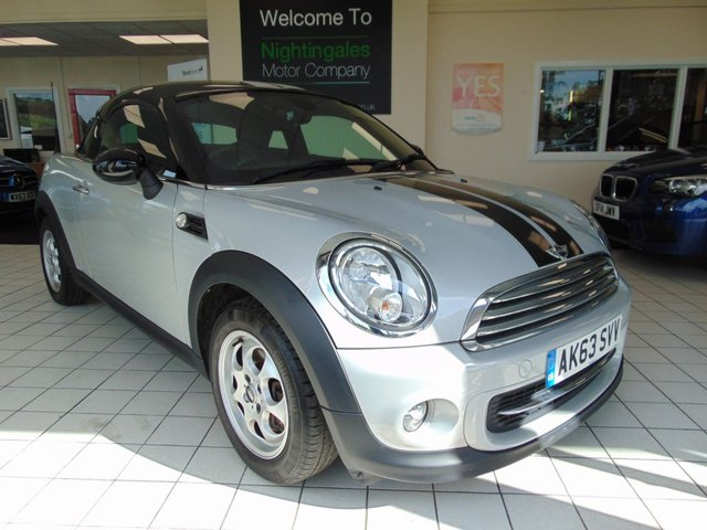 USED 2014 63 MINI COUPE 1.6 COOPER 2d 120 BHP FULL SERVICE HISTORY + SEPTEMBER 2020 MOT + DAB RADIO + AIR CONDITIONING + ALLOYS + ELECTRIC WINDOWS + CENTRAL LOCKING + PARROT BLUETOOTH + LOW MILES