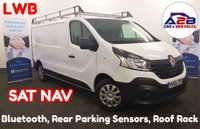 2015 RENAULT TRAFIC 1.6 LL29 BUSINESS DCI Long Wheel Base in White with Factory SAT NAV, Bluetooth, Rear Parking Sensors, Aux & USB and more £7980.00