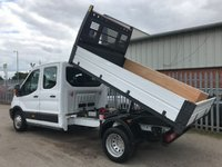 USED 2016 66 FORD TRANSIT 350 130PS LWB L3 D/CAB FACTORY 7 SEAT TIPPER