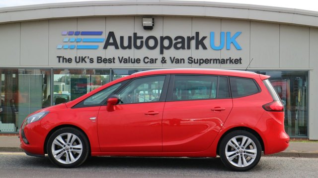 USED 2016 16 VAUXHALL ZAFIRA TOURER 1.4 SRI 5d 138 BHP LOW DEPOSIT OR NO DEPOSIT FINANCE AVAILABLE