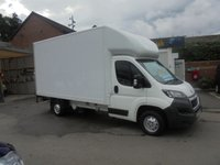 USED 2016 16 PEUGEOT BOXER 2.2 HDI 335 L3 130 BHP 13 FT  LUTON / BOX VAN WITH SLIMJIM ALLOY TAIL-LIFT , SERVICE HISTORY, ELECTRIC PACK, ££ FINANCE AVAILABLE £££ PEUGEOT BOXER LUTON WITH SLIMJIM ALLOY TAIL-LIFT