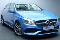 "USED 2017 66 MERCEDES-BENZ A CLASS 1.6 A 180 AMG LINE EXECUTIVE 5d 121 BHP 1 OWNER+FULL MERCEDES SERVICE HISTORY+18"" ALLOYS+SAT NAV+1/2 LEATHER+REVERSE ASSIST CAMERA+PARKING SENSORS"