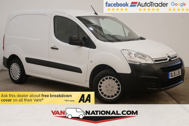 USED 2016 16 CITROEN BERLINGO 1.6 625 ENTERPRISE L1 HDI 75BHP (AIR CON 3 SEATS) * AIR CON * BLUETOOTH * CRUISE * REAR SENSORS * FINANCE PACKAGES AVAILABLE *