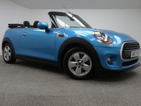 USED 2017 17 MINI CONVERTIBLE 1.5 COOPER 2d 134 BHP FINISHED IN A STUNNING BLUE + NO ADMIN FEES + BLUETOOTH + DAB-RADIO + AUX/USB + AIR CONDITIONING + ELECTRIC WINDOWS + REVERSE CAMERA + REAR PARKING SENSORS