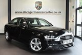 """USED 2015 65 AUDI A4 2.0 TDI ULTRA SE TECHNIK 4DR 161 BHP full service history Finished in a stunning black styled with 17"""" alloys. Upon opening the drivers door you are presented with full black leather interior, full service history, satellite navigation, bluetooth, dab radio, cruise control, climate control, heated mirrors, parking sensors"""