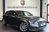 "USED 2018 18 AUDI A3 2.0 TDI BLACK EDITION 5DR AUTO 148 BHP full service history Finished in a stunning monsoon metallic grey styled with 18"" alloys. Upon opening the drivers door you are presented with half black leather interior, full service history, satellite navigation, bluetooth, heated sport seats, xenon lights, cruise control, climate control, rain sensors, heated mirrors, usb/aux port, parking sensors"