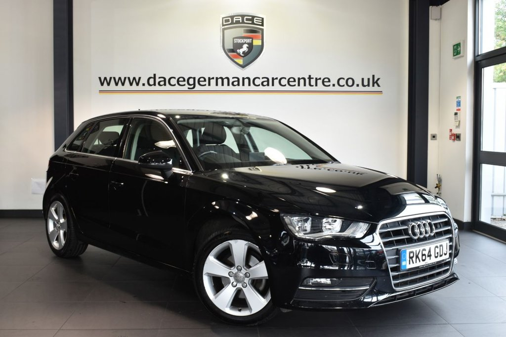 "USED 2014 64 AUDI A3 2.0 TDI SPORT 5DR AUTO 148 BHP full audi service history - £30 road tax Finished in a stunning black styled with 17"" alloys. Upon opening the drivers door you are presented with cloth upholstery, full audi service history, bluetooth, dab radio, sport seats, climate control, heated mirrors, auxiliary port"