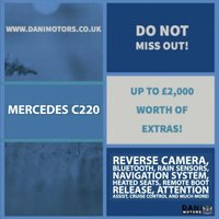 USED 2016 65 MERCEDES-BENZ C CLASS 2.1 C220d AMG Line (Premium) 7G-Tronic+ (s/s) 4dr 1 OWNER*SATNAV*REV CAMERA*