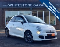 USED 2013 63 FIAT 500 1.2 S 3d 69 BHP £30 YEAR TAX, 1.2S , BLUETOOTH, SPORT STYLING KIT, AIR COND, LOW MILES.