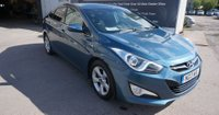 2013 HYUNDAI I40 1.7 CRDI STYLE BLUE DRIVE 4d 134 BHP IN METALLIC BLUE WITH ONLY 35400 MILES WITH FULL SERVICE HISTORY, SAT NAV, REAR CAMERA AND 2 OWNERS  £7499.00