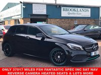 USED 2016 16 MERCEDES-BENZ A CLASS 2.1 A 220 D MOTORSPORT EDITION 5d AUTO 174 BHP ONLY 37017 MILES FSH FANTASTIC SPEC INC SAT NAV REVERSE CAMERA HEATED SEATS & LOTS MORE