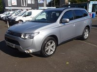 USED 2013 63 MITSUBISHI OUTLANDER 2.3 DI-D GX 5 5d AUTO 147 BHP HIGH SPECIFICATION *DEALER SERVICED*NAVIGATION*REVERSE CAMERA