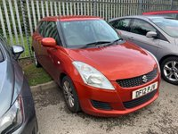 USED 2012 12 SUZUKI SWIFT 1.2 SZ3 5d 94 BHP ONE OWNER FROM NEW