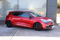 USED 2015 15 RENAULT CLIO 1.6 RENAULTSPORT NAV TROPHY 5d AUTO 220 BHP FULL LEATHER INTERIOR, CUP CHASSIS, KTR EXHAUST SYSTEM