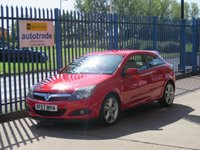USED 2007 57 VAUXHALL ASTRA 1.6 SRI 3d 180 BHP Outstanding Astra 1.6 SRi with alloys,fog lights,air conditioning and service history