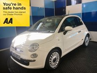 "USED 2013 63 FIAT 500 1.2 LOUNGE 3d 69 BHP A stuning example of this very highly regarded small family hatchback finished in unmarked bright white complemented with multispoke 15"" alloy wheels ,this car comes with blue and me ,cd radio with usb and aux,electric windows and mirrors,remote central locking,panoramic glass roof,space saver wheel plus all the usual refinements.It looks and drives superbly. Road tax is only £30 a year ,combined ecconomy of 58.9 mpg along with low insurance group 6 make it an ideal first car ."
