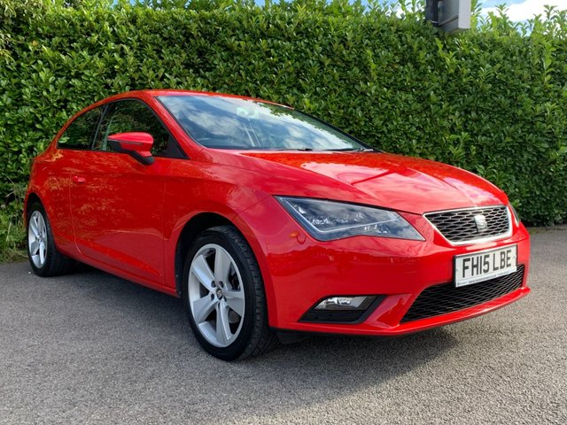 """USED 2015 15 SEAT LEON 1.2 TSI SE TECHNOLOGY 3d 110 BHP We Are Pleased To Offer This Sporty, Reliable, Economical Seat Leon Which Is Just £30 Per Year To Tax, Fitted With A 1.2L Engine It Is Ideal For A First Time Driver Or A 2nd Family Car, Fitted With Sat Nav, Bluetooth, Rear Parking Sensors It Does Come With A Great Spec, Finished In Solid Red Paint With 16"""" Alloy Wheels It Does Give The Car That Sporty Look, Drive Away In Under 1 Hour"""