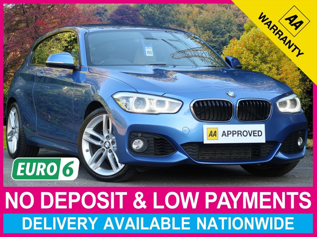 USED 2016 65 BMW 1 SERIES 118i 1.5 M SPORT AUTO STEP 3DR BEIGE LEATHER CLIMATE ALLOYS