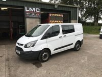 USED 2015 65 FORD TRANSIT CUSTOM 2.2 270 LR DCB 100 BHP
