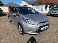 USED 2012 62 FORD FIESTA 1.4 ZETEC TDCI 5d 69 BHP ONE YEAR WARRANTY INCLUDED / FULL SERVICE HISTORY / VOICE COMMS /USB / BLUETOOTH
