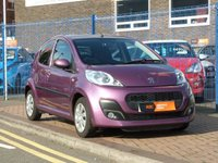 USED 2014 14 PEUGEOT 107 1.0 ACTIVE 5d  £0 ROAD TAX ~ AIR CONDITIONING ~ REV COUNTER ~ PLUM PURPLE ~ FULL SERVICE HISTORY ~ LOW INSURANCE