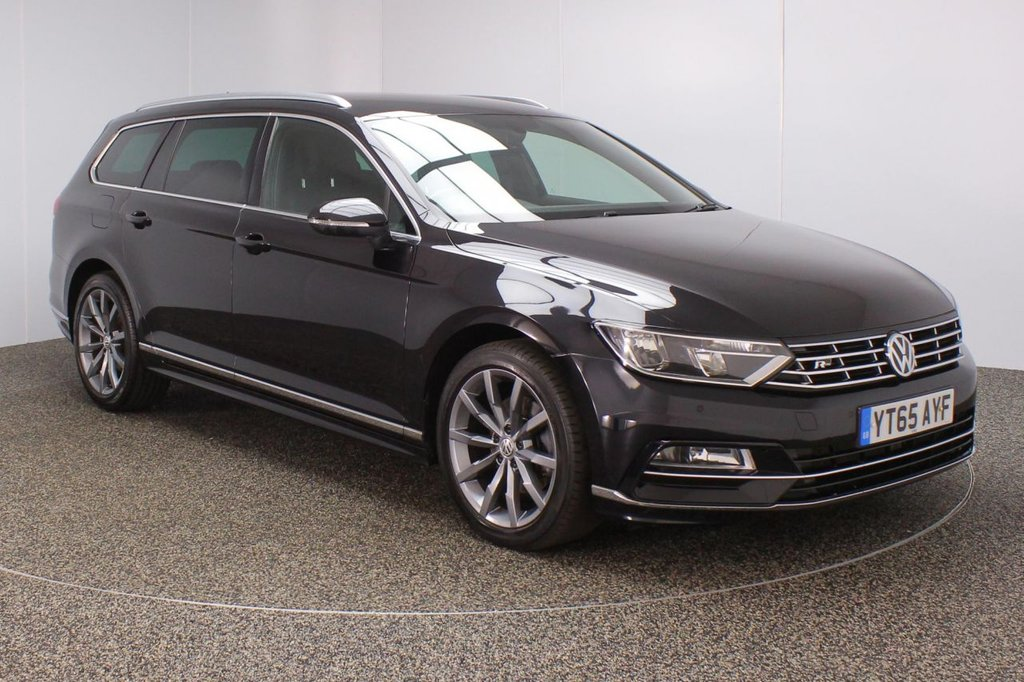 USED 2015 65 VOLKSWAGEN PASSAT 2.0 R LINE TDI BLUEMOTION TECHNOLOGY 5DR SAT NAV HEATED HALFLEATHER SEATS 1 OWNER 148 BHP SERVICE HISTORY + £20 12 MONTHS ROAD TAX + HEATED HALF LEATHER SEATS + SATELLITE NAVIGATION + PARKING SENSOR + BLUETOOTH + CRUISE CONTROL + CLIMATE CONTROL + MULTI FUNCTION WHEEL + DAB RADIO + PRIVACY GLASS + RADIO/CD/AUX/USB + ELECTRIC SEATS + ELECTRIC WINDOWS + ELECTRIC MIRRORS + 18 INCH ALLOY WHEELS