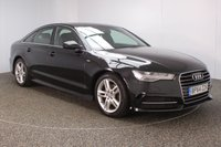 USED 2015 64 AUDI A6 2.0 TDI ULTRA S LINE 4DR SAT NAV HEATED LEATHER SEATS 1 OWNER 188 BHP SERVICE HISTORY + £30 12 MONTHS ROAD TAX + HEATED LEATHER SEATS + SATELLITE NAVIGATION + PARKING SENSOR + BLUETOOTH + CRUISE CONTROL + CLIMATE CONTROL + MULTI FUNCTION WHEEL + ELECTRIC WINDOWS + ELECTRIC MIRRORS + ALLOY WHEELS