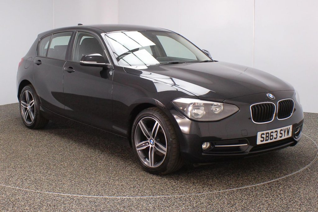 USED 2013 63 BMW 1 SERIES 2.0 116D SPORT 5DR 114 BHP SERVICE HISTORY + £30 12 MONTHS ROAD TAX + BLUETOOTH + AIR CONDITIONING + MULTI FUNCTION WHEEL + DAB RADIO + ELECTRIC WINDOWS + RADIO/CD/AUX/USB + ELECTRIC MIRRORS + 17 INCH ALLOY WHEELS