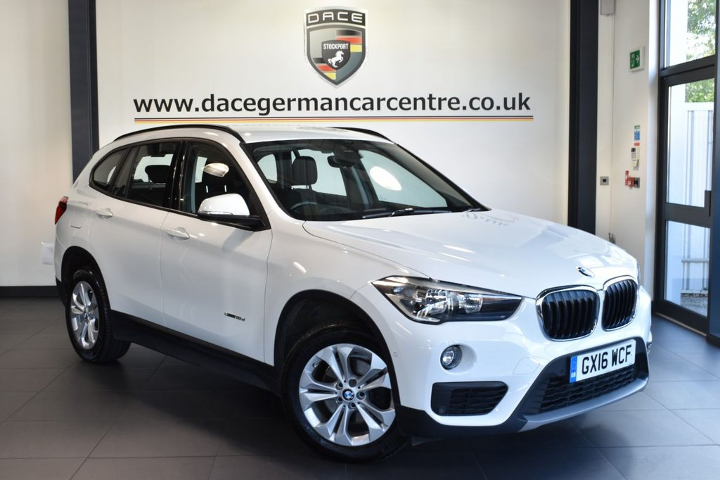 "USED 2016 16 BMW X1 2.0 SDRIVE18D SE 5DR 148 BHP full service history - £20 road tax Finished in a stunning alpine white styled with 17"" alloys. Upon opening the drivers door you are presented with anthracite upholstery, full service history, satellite navigation, £20 road tax, bluetooth, Cruise control with brake function, Light package, Active Guard, DAB radio, Park Assist, Performance Control"