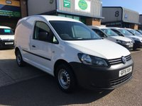 USED 2015 15 VOLKSWAGEN CADDY 1.6 C20 TDI STARTLINE 1d 101 BHP A CHOICE OF OVER 15 IN STOCK, FINANCE ARRANGED & 6 MONTHS WARRANTY. 2 Services - last service 16/9/2019 @ 87,372 with **NEW GENUINE VW CAMBELT & WATER PUMP FITTED** E/W, Radio/CD, Drivers airbag, Factory fitted bulk head, side loading door, ply lined, Very Good Condition, remote Central Locking, Drivers Airbag, CD Player/FM Radio, Steering Column Radio Control, Barn Rear Doors, spare key, finance arranged on site & 6 months premium Autoguard warranty