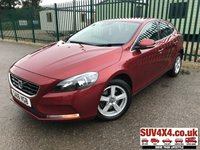 USED 2016 16 VOLVO V40 2.0 D2 SE 5d 118 BHP ONE OWNER FSH STUNNING RED WITH CLOTH TRIM. CRUISE CONTROL. 16 INCH ALLOYS. COLOUR CODED TRIMS. BLUETOOTH PREP. CLIMATE CONTROL. 6 SPEED MANUAL. MFSW. MOT 03/20. SERVICE HISTORY. PRESTIGE SUV CENTRE LS23 7FR. TEL 01937 849492 OPTION 1
