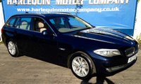 USED 2013 13 BMW 5 SERIES 2.0 520D SE TOURING 5d AUTO 181 BHP LULL CREAM LEATHER AUTO GEAR BOX