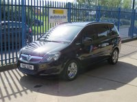 USED 2012 12 VAUXHALL ZAFIRA 1.6 Exclusive 7 Seater,Air Conditioning,parking sensors,History