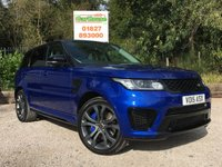 "USED 2015 15 LAND ROVER RANGE ROVER SPORT 5.0 SVR 5d AUTO 550 HUGE SPEC, 22"" Alloys, PanRoof"