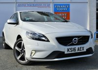 USED 2016 16 VOLVO V40 2.0 D2 R-DESIGN NAV 5d Family Hatchback Absolutely Stunning in White with Great High Spec inc Sat Nav DAB Digital Radio Bluetooth Mobile Handsfree Heated Seats and Stunning Alloys PERFECT FAMILY HATCHBACK
