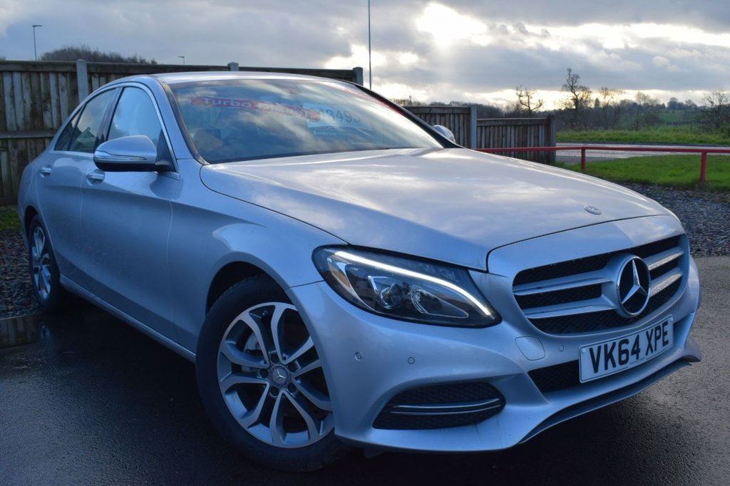 USED 2014 64 MERCEDES-BENZ C-CLASS 2.1 C220 BLUETEC SPORT 4d AUTO 170 BHP BLUETOOTH, FULL BLACK LEATHER SEATS