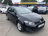 2015 VOLKSWAGEN GOLF 1.6 MATCH TDI BLUEMOTION TECHNOLOGY 5d 103 BHP IN BLACK WITH 1 OWNER, 32500 MILES, FULL SERVICE HISTORY AND IS ULEZ COMPLIANT £9799.00