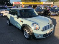 2012 MINI HATCH COOPER 1.6 COOPER 3d 122 BHP IN BLUE WITH ONLY 22000 MILES, FULL SERVICE HISTORY, 2 OWNERS AND IS ULEZ COMPLIANT  £7299.00