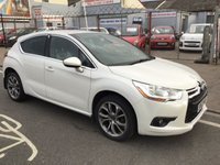 USED 2013 63 CITROEN DS4 1.6 E-HDI AIRDREAM DSTYLE 5d 115 BHP White, diesel, ds4, economical, 6 speed, superb. Low road tax.