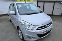 USED 2012 62 HYUNDAI I10 1.2 ACTIVE 5d 85 BHP * * GREAT 1ST CAR * *