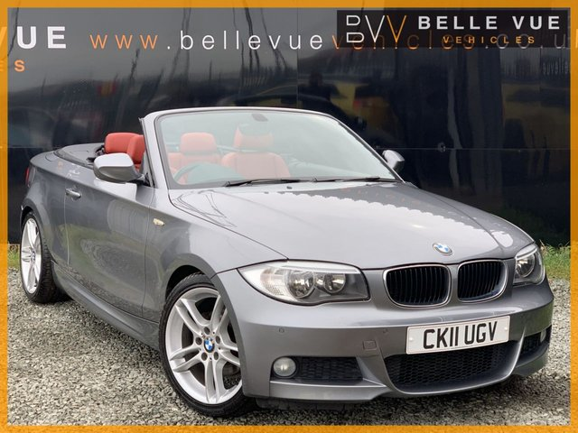 USED 2011 11 BMW 1 SERIES 2.0 118D M SPORT 2d 141 BHP *STUNNING RED LEATHER, 18'' ALLOY WHEELS!*