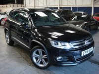 USED 2015 15 VOLKSWAGEN TIGUAN 2.0 R LINE TDI BLUEMOTION TECH 4MOTION DSG 5d AUTO 148 BHP ANY PART EXCHANGE WELCOME, COUNTRY WIDE DELIVERY ARRANGED, HUGE SPEC
