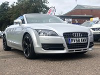 USED 2008 58 AUDI TT 2.0 TFSI 2d 200 BHP FULL LEATHER *   PARKING AID *  BLUETOOTH +   HEATED SEATS +   ALLOY WHEELS *  AUX CONNECTION *