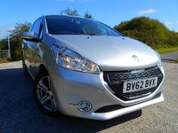 USED 2012 62 PEUGEOT 208 1.2 ACTIVE 3d 82 BHP ** LOW INSURANCE,  £20 ROAD TAX, TOUCH SCREEN WITH SATNAV, BLUETOOTH, GREAT VALUE ONLY £3895 !!! **