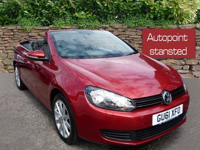 2011 61 VOLKSWAGEN GOLF 1.6 TDI BLUEMOTION TECH SE CONVERTIBLE