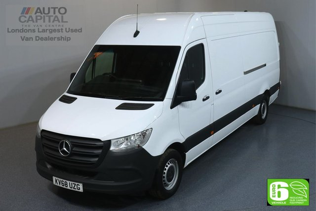 2018 68 MERCEDES-BENZ SPRINTER 2.1 314 CD 141 BHP LWB EURO 6 ENGINE REVERSE CAMERA, FRONT- REAR PARKING SENSORS