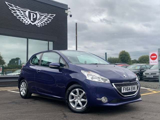 USED 2014 64 PEUGEOT 208 1.4 HDI ACTIVE 3d 68 BHP AA WARRANTY,  MOT AND SERVICE INCLUDED