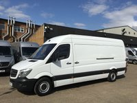 USED 2015 15 MERCEDES-BENZ SPRINTER 2.1 313CDI LWB HIGH ROOF 130BHP 1 OWNER F/S/H. FINANCE. PX 1 OWNER. F/S/H. JUST SERVICED. LOW FINANCE. PX WELCOME