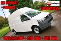 USED 2013 62 VOLKSWAGEN TRANSPORTER 2.0 T30 TDI BMT +  LWB +  HIGH ROOF + AIR CON + NAV HIGH ROOF + SAT NAV + AIR CON