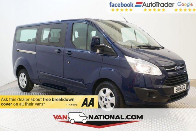 USED 2016 16 FORD TOURNEO CUSTOM 2.2 300 LIMITED TDCI 125 BHP 9 SEATER MINIBUS LWB (AIR CON 9 SEATS ALLOYS)
